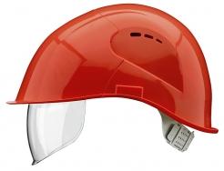 Přilba VOSS VISOR LIGHT ochrana týlu PC zorník červená