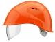 Přilba VOSS VISOR LIGHT ochrana týlu PC zorník oranžová