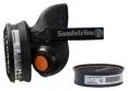 Polomaska Sundström sada SR90 TPE + filtr P2 šedá