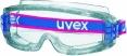 Brýle UVEX SUPRAVISION uzavřené na gumičku 2 ochranné folie na zorníku nemlživé odolné poškrábání čiré