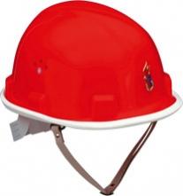 Přilba VOSS CADET FIRE BRIGADE bílý okraj podbradní pásek oranžová
