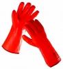 Rukavice FLAMINGO bavlněný úplet máčený PVC zateplené červené velikost 11