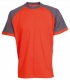 Triko OLIVER ORION bavlna 180g oranžovo/šedé velikost L