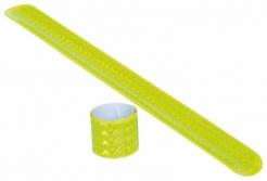 Reflexní zaklápávací pásek na ruku žlutý