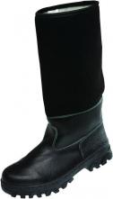 Obuv TIMUR holeňová koženofilc zateplená černá velikost 42