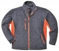 Mikina dvoubarevná Texo Heavy fleece 400 šedo/oranžová velikost L