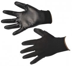 Rukavice A120 bezešvý nylonový úplet povrstvený polyuretanem černé velikost L
