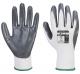 Rukavice Flexo Grip nylonový úplet povrstvený nitrilem šedo/bílé velikost XL