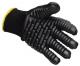 Rukavice VIBRASAFE  antivibrační bavlna/pryž černé velikost L