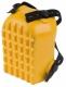 Nákoleník vaničkový vroubkovaný upevnění na pásky pěnová guma žlutý