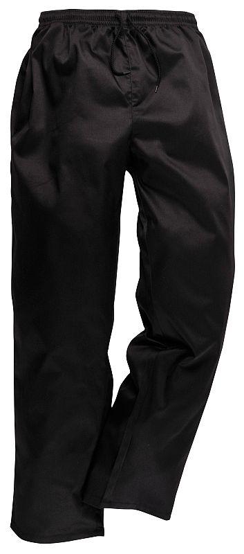 Kalhoty elastický pas stahovací šňůrka černé velikost L