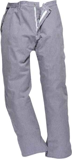 Kalhoty Barnet Chefs elastický pas modro/bílé pepito velikost M