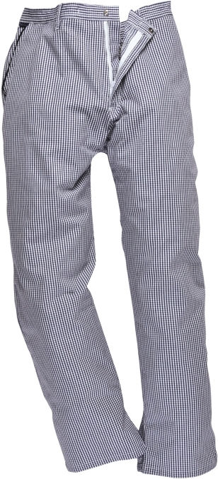 Kalhoty Barnet Chefs elastický pas modro/bílé pepito velikost XXL