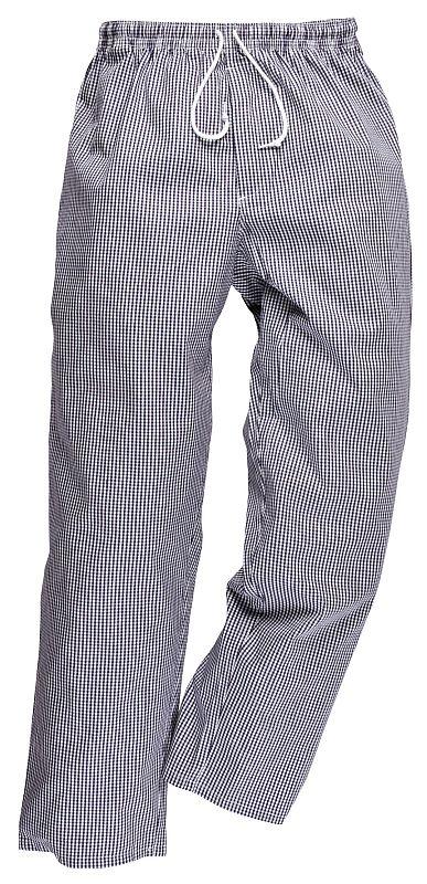 Kalhoty BROMLEY CHEFS pružný pas se šňůrkou modro/bílé pepito velikost S