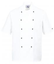 Rondon KENT CHEFS kuchařský krátký rukáv dvouřadý bílý velikost L