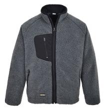 Mikina Fleece Sherpa PES 300g 3 kapsy na zip kontrastní šedivý melír velikost XL