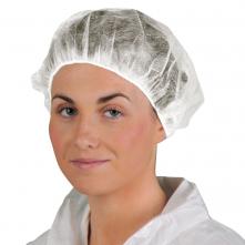 Čepice BOUFFANT PP potravinářská jednorázová 6000 ks bílá