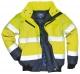 Bunda PILOT 3v1 odepínatelná vložka límec a rukávy výstražná žlutá s modrou velikost XL