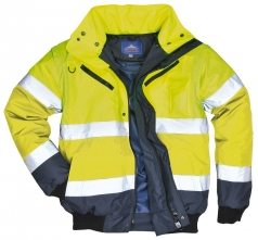 d308d2aa4b0 Bunda PILOT 3v1 odepínatelná vložka límec a rukávy výstražná žlutá s modrou  velikost XL