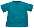 Halena SCRUB TOP hospital výstřih do V s kapsami zelená velikost L
