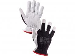 Rukavice CXS TECHNIK Plus bavlna/kozinka pruženka na zápěstí volná manžeta šedo/černé