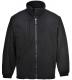 Bunda BUILDTEX™ laminovaný fleece se zapínáním na zip černá velikost L