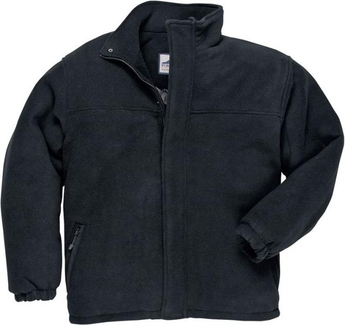 Mikina YUKON fleece prošívaná zateplená černá velikost M