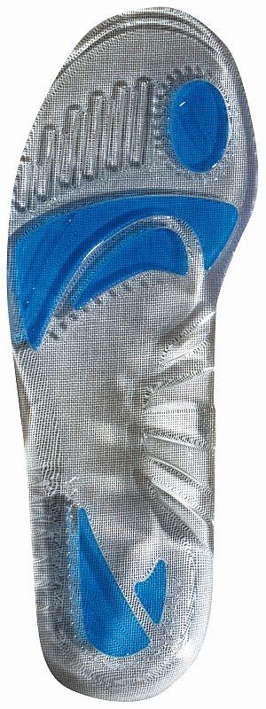 Vložka do obuvi gelová komfortní pro pohlcení nárazů šedá velikost L 45-47