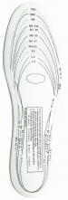 Vložka do obuvi pěnová EVA ergonomicky tvarovaná bílá upravitelná velikost