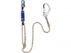 Úchytné lano FP 23 s tlumičem včetně karabiny a hákovou karabinou délka 1,8 m