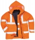 Bunda TRAFFIC 4v1 Hi-Vis reflexní pruhy výstražná oranžová velikost XXL