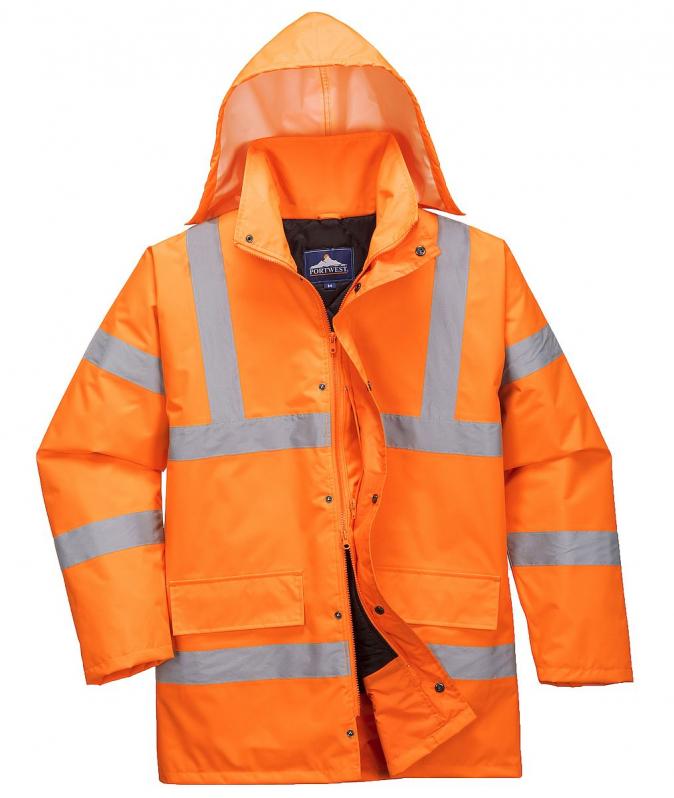 Bunda TRAFFIC Hi-Vis reflexní pruhy výstražná oranžová velikost XL