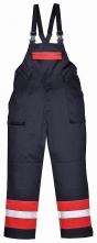 Kalhoty BIZFLAME PLUS laclové antistatické nehořlavé reflexní pruhy tmavě modré/červené velikost XL
