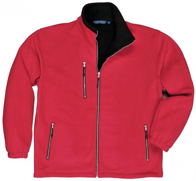 Mikina CITY fleecová oboustranná červená velikost XXL