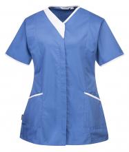 Tunika Modern dámská krátký rukáv světle modrá velikost XL