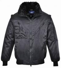 Bunda PILOT odepínatelné rukávy límec a teplá vložka černá velikost XL