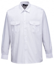 Košile PILOT s 2 kapsami na prsou dlouhý rukáv bílá velikost 42