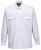 Košile PILOT s 2 kapsami na prsou dlouhý rukáv bílá velikost 41