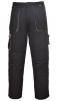 Montérkové kalhoty TEXO do pasu černo/šedé velikost XXXL
