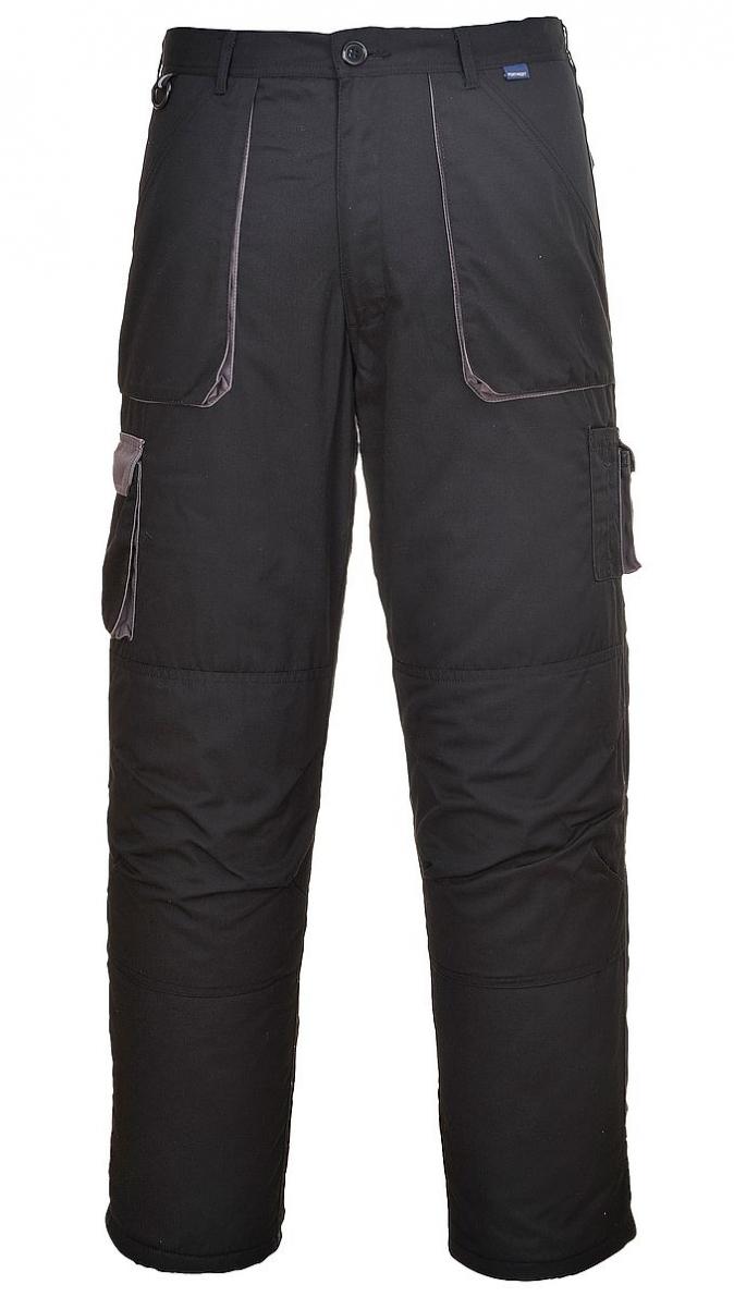 Montérkové kalhoty TEXO do pasu černo/šedé velikost M