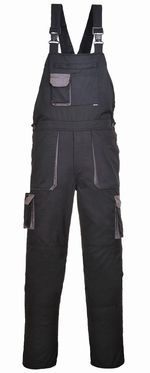 Montérkové kalhoty TEXO s laclem černo/šedé velikost M