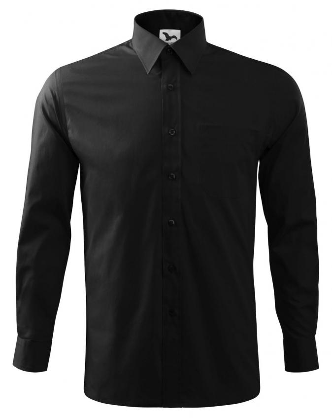 Košile Oxford pánská dlouhý rukáv středně modrá velikost 47