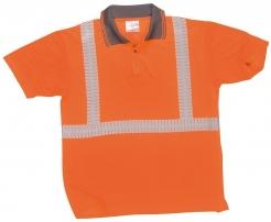 Polokošile Superior Hi-Vis perforované reflexní pruhy oranžová velikost XL