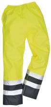 Kalhoty Traffic Hi-Vis nepromokavé vysoce viditelná žluto/modrá velikost L