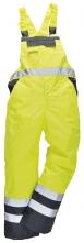 Kalhoty DUO TERMO laclové zateplené nepromokavé vysoce viditelná žluto/modrá velikost XL