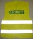 Vesta SECURITY modrý potisk výstražná žlutá velikost XXL-XXXL