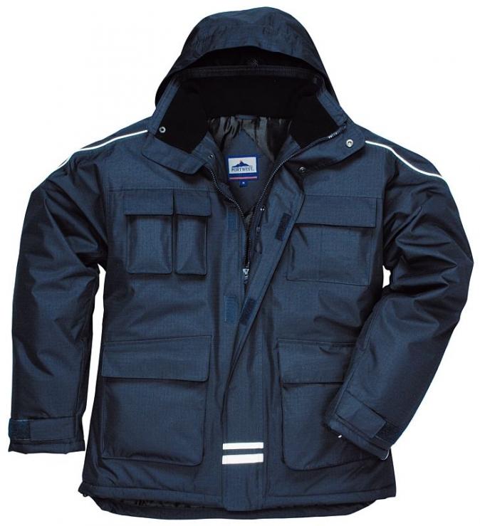 Bunda RS parka zateplená nepromokavá tmavě modrá velikost XL