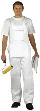 Montérkové kalhoty BOLTON PAINTERS s náprsenkou a šlemi bílé velikost XL
