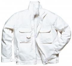 Montérková blůza BOLTON PAINTERS zapínání na zip bílá velikost XL