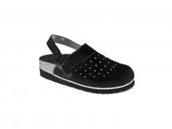 Obuv sandál MARTA dámský korkový tvarovaný klínek pásek přes patu černá